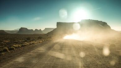 Navajo Nation, UT- road to Adaki family home.