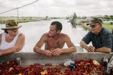 Cajun Catholic Shrimp Boat Blessing Ceremony in Southern Louisiana