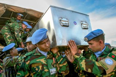 UN Peacekeeper's Funeral