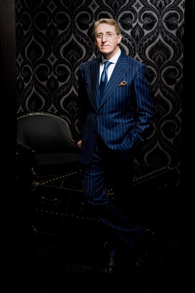 Leonard Logsdail, bespoke suit maker and master tailor.
