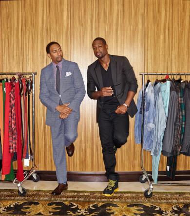 Dwyane Wade, Miami Heat gives Stephen A. Smith some fashion advise.