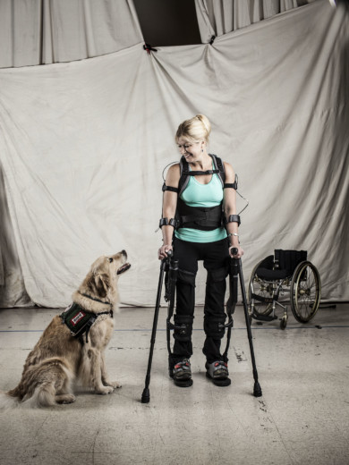 Amanda Boxtel with Exoskeleton