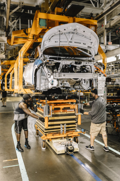 General Motor's Orion Assembly Plant in Michigan