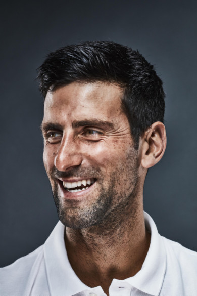 Novak Djokovic at the Rogers Cup presented by National Bank, in Toronto, on August 5, 2018.
