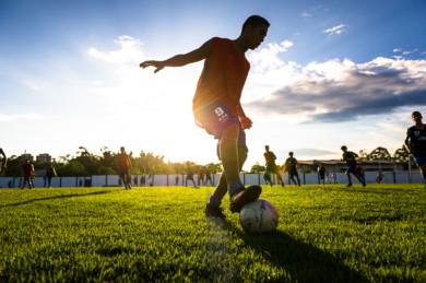 Soccer training in Manaus, Brazil