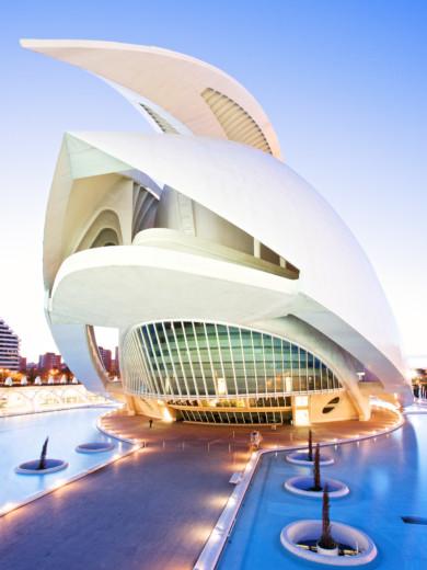 Spain, Valencia, Palau de les Arts Reina Sofia, architect Santiago Calatrava