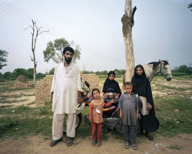 Portraits of internally dispalced persons from North Western province in Pakistan on October 1, 2009.