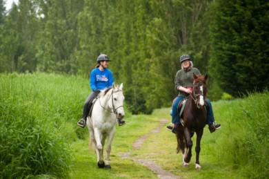 Horseback riding in western Washington.